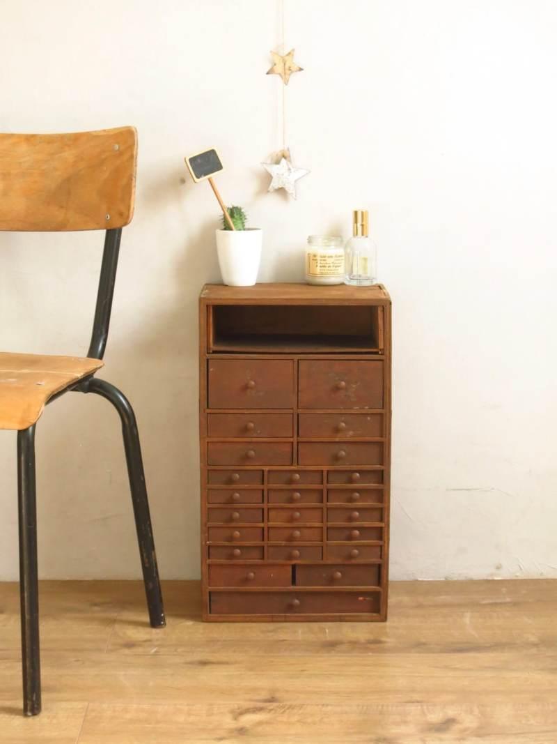 manufrance meuble de métier de rangement, en bois mobilier industriel mobilier vintage