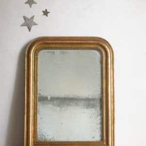 Miroir Louis Philippe ancien en bois et plâtr