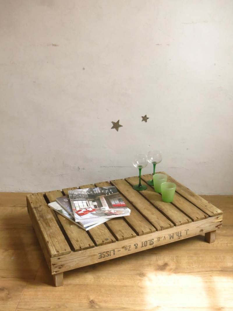 Table basse industrielle palette bois