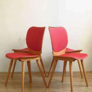 Chaises baumann skai rouge