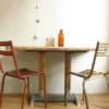 Table bistrot industrielle bois et métal