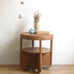 Table ronde gueridon basse art deco