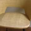 Chaise tonneau paille