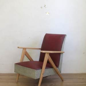 fauteuil vintage pieds compas