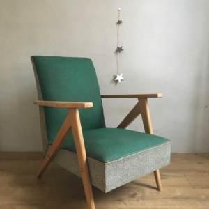 Ancien fauteuil pieds compas vintage des années 50/60