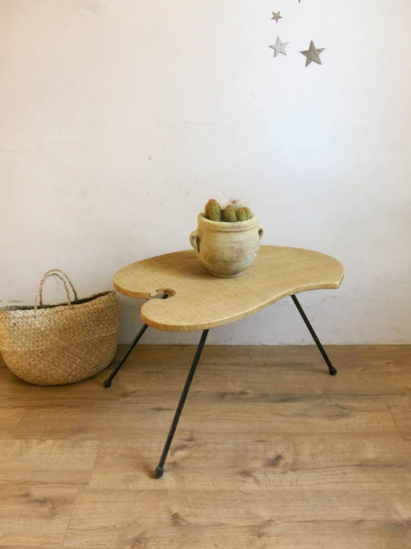 Table harricot skai paille