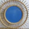 Miroir soleil rotin