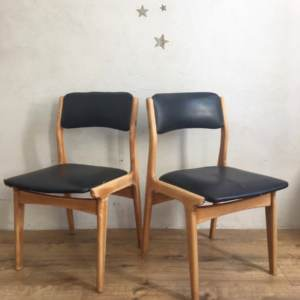Chaise scandinave skai noir