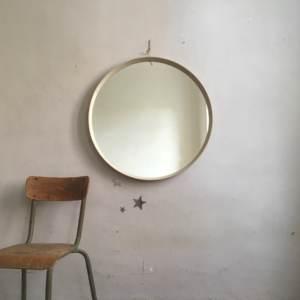 Miroir années 50 en bois courbé.