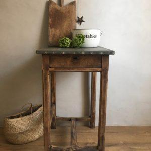Billot zinc table d'atelier