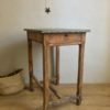 Billot zinc table d'atelier