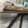 Console établi metal bois
